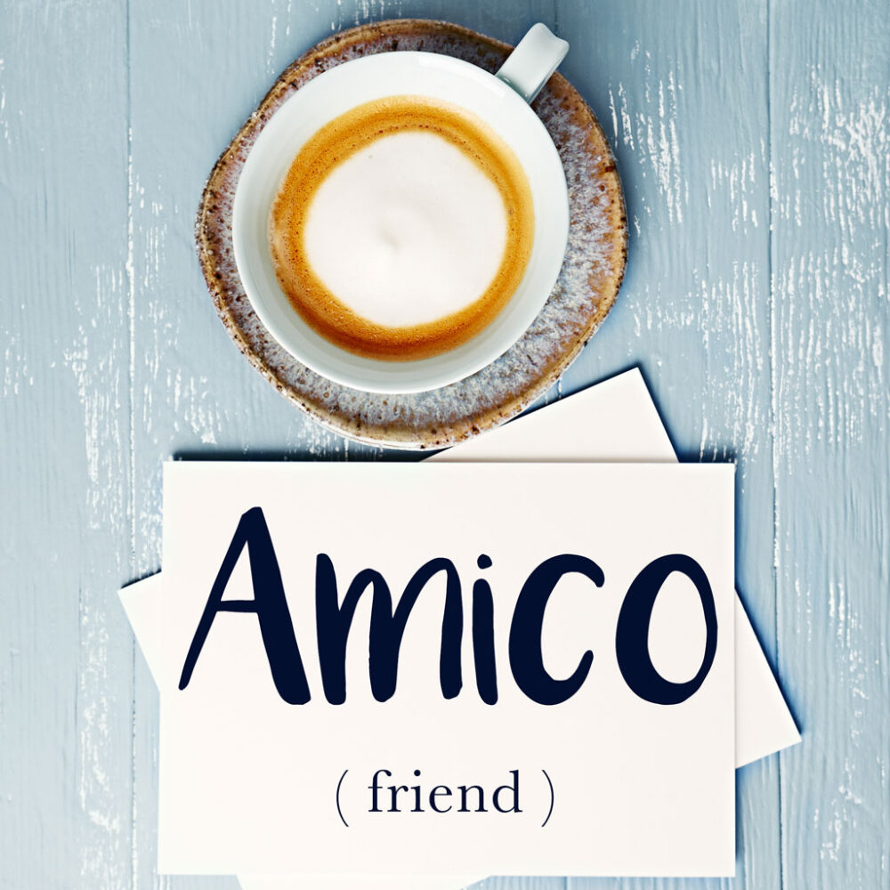 Italian Word of the Day: Amico / Amica (friend)