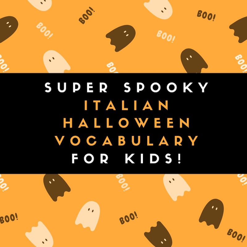 Super Spooky Italian Halloween Vocabulary for Kids!