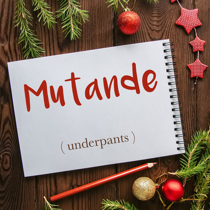 Italian Word of the Day: Mutande (underpants)
