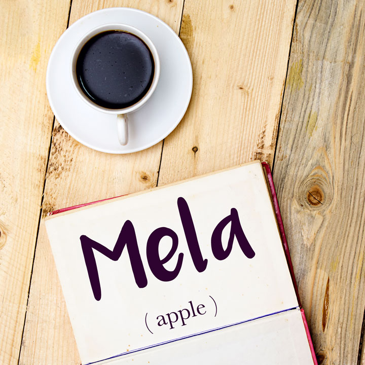 Italian Word of the Day: Mela (apple)