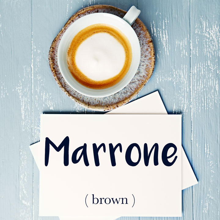 Italian Word of the Day: Marrone (brown)