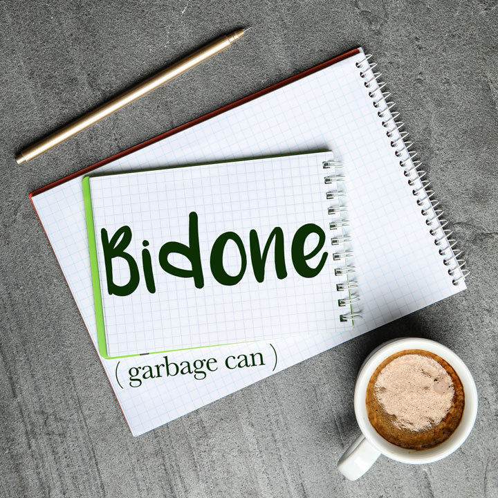 Italian Word of the Day: Bidone (garbage can)
