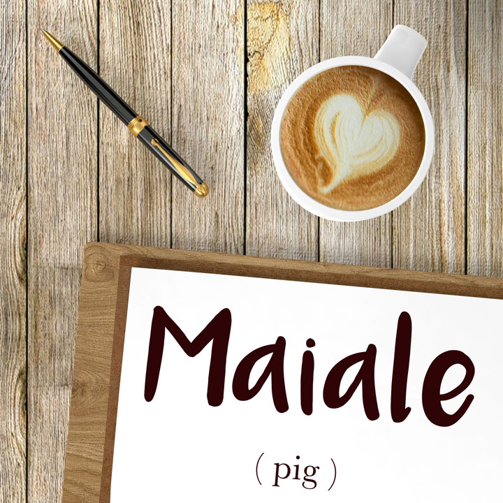 italian word for pig is maiale