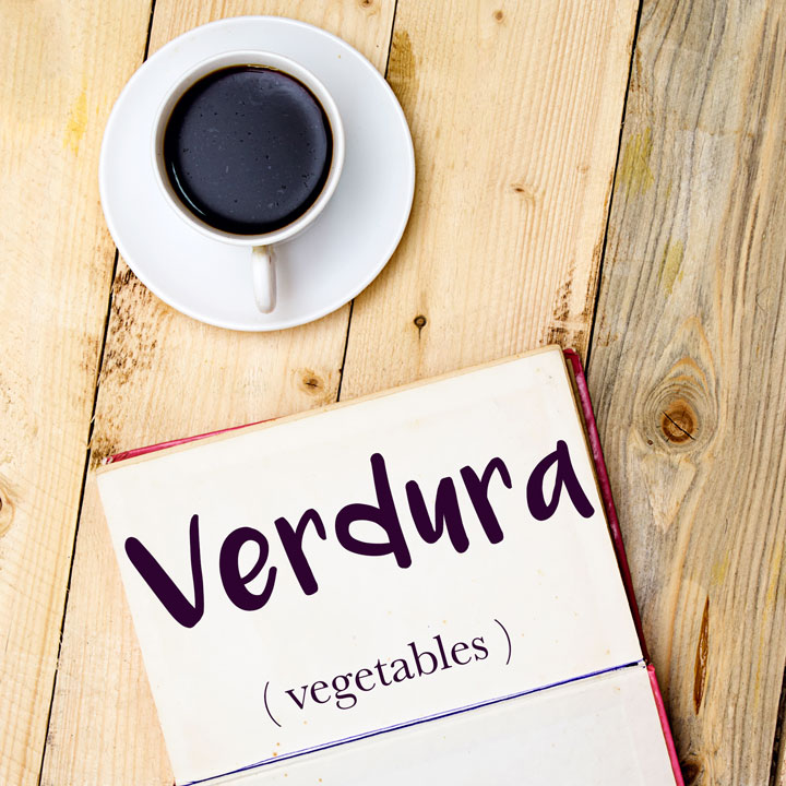 italian word for vegetables is verdura
