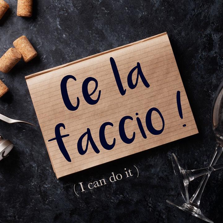 Italian Phrase of the Week: Ce la faccio! (I can do it!)