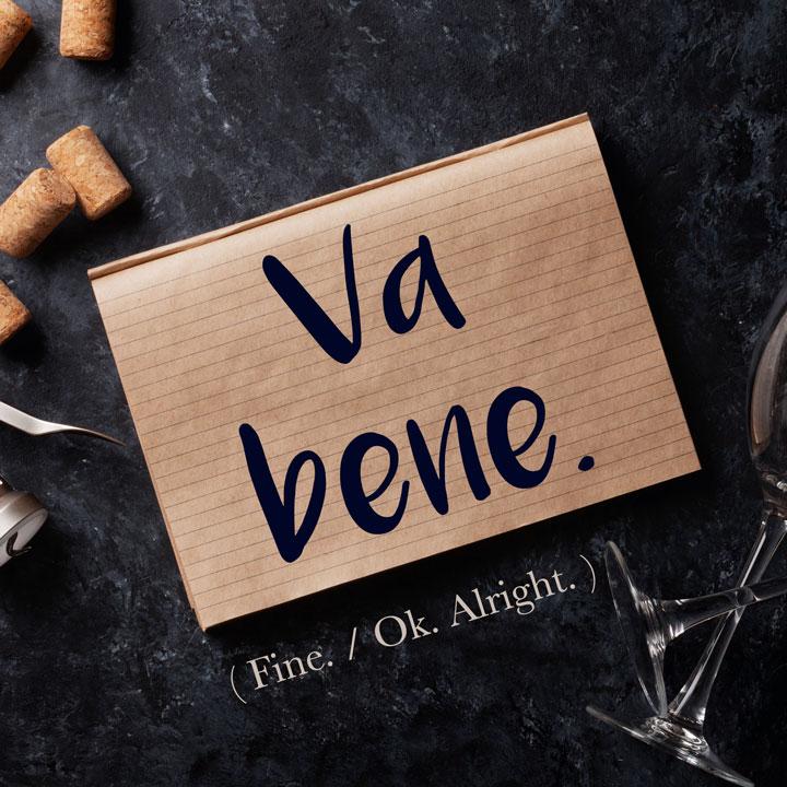 Italian Phrase of the Week: Va bene. (Fine. / Okay. / Alright.)