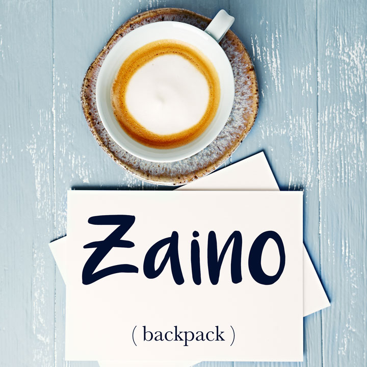 Italian Word of the Day: Zaino (backpack)