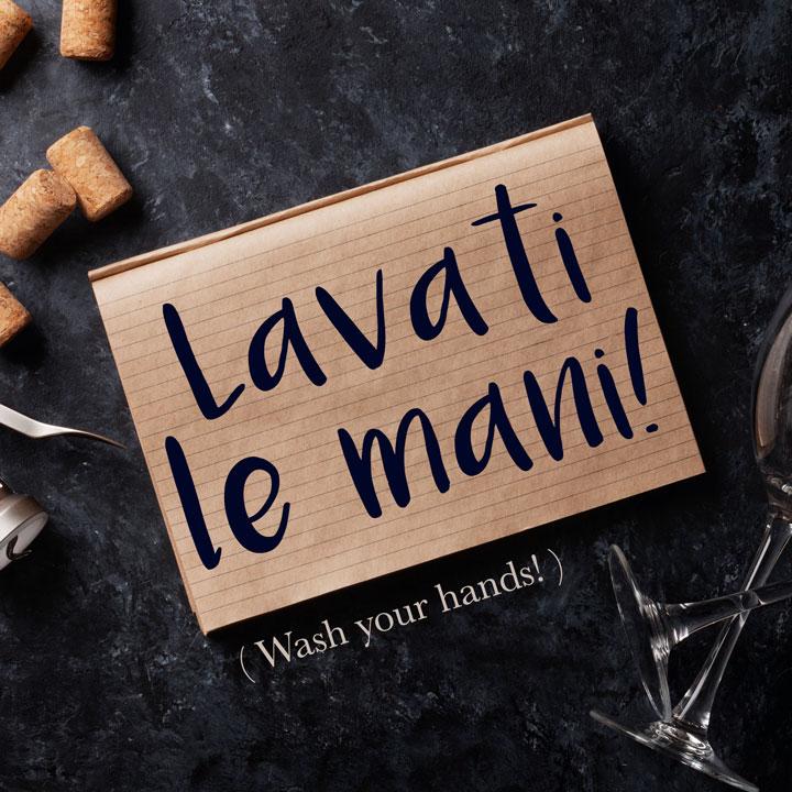 Italian Phrase of the Week: Lavati le mani! (Wash your hands!)