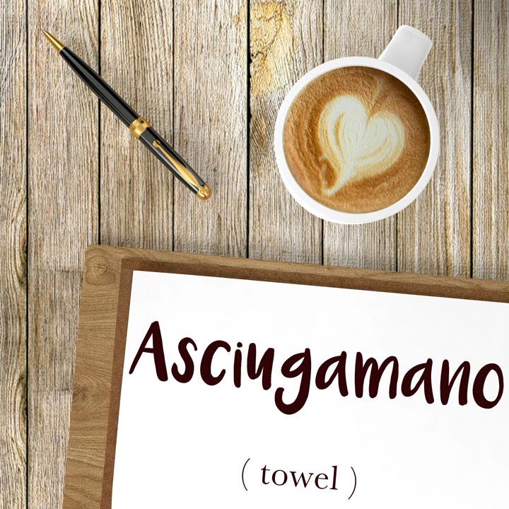 Italian Word of the Day: Asciugamano (towel)