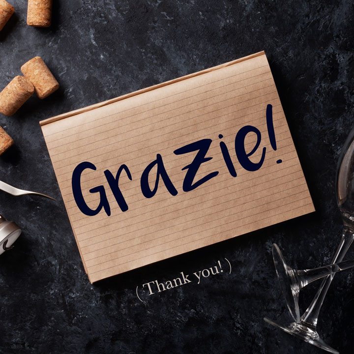 Italian Phrase of the Week: Grazie! (Thank you!)