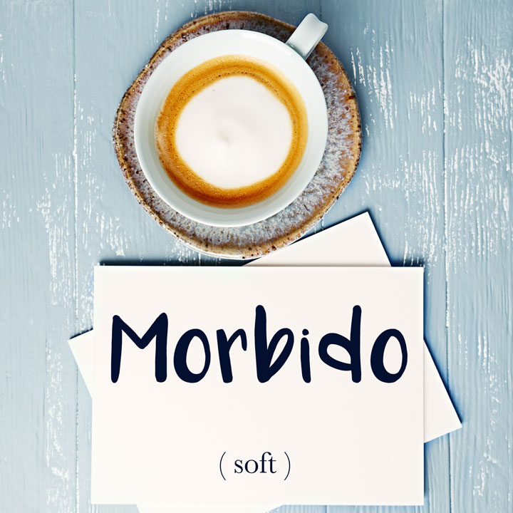 Italian Word of the Day: Morbido (soft)