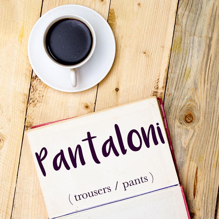 Italian Word of the Day: Pantaloni (trousers / pants)