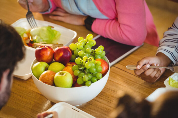 bowl of fruits on the dining table