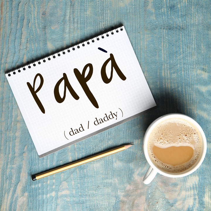 Italian Word of the Day: Papà (dad / daddy)