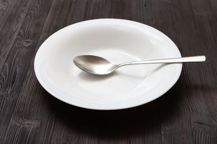 empty soup plate