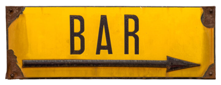 old bar sign