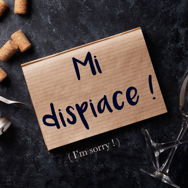 Italian Phrase of the Week: Mi dispiace! (I'm sorry!)