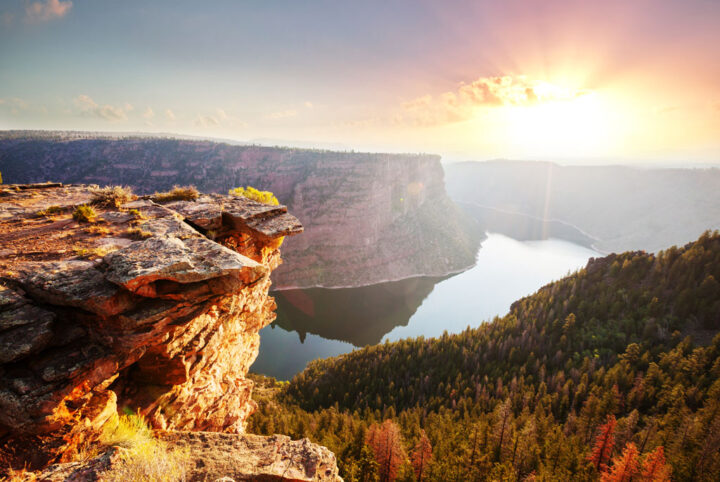 view of the Flaming Gorge in the United States