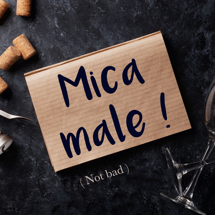 Italian Phrase of the Week: Mica male! (Not bad!)