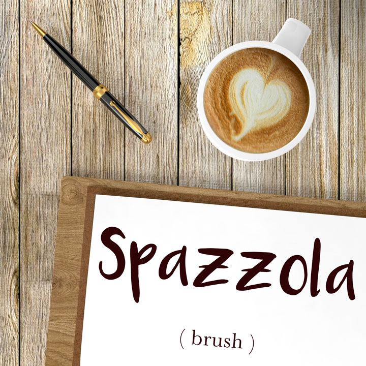 Italian Word of the Day: Spazzola (brush)