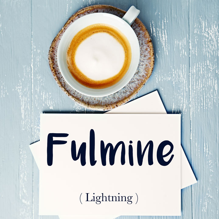 Italian Word of the Day: Fulmine (lightning)