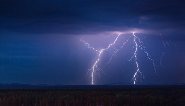 lightning and dark clouds
