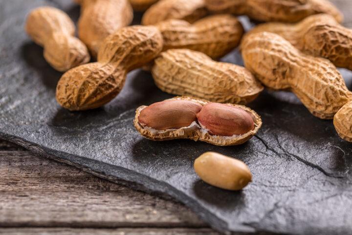 peanuts on a table