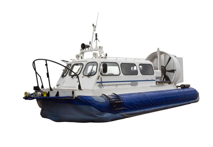 hovercraft on white background