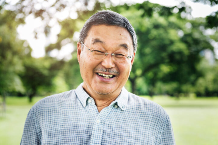 japanese man smiling