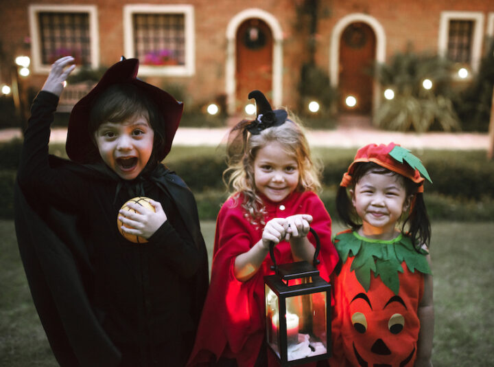 Little kids trick or treating