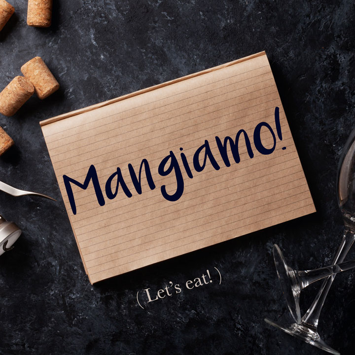 Italian Phrase Mangiamo Let S Eat Daily Italian Words