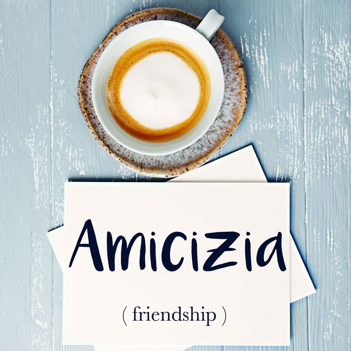 Italian Word of the Day: Amicizia (friendship)