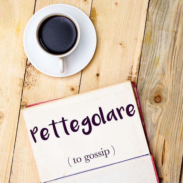 Italian Word of the Day: Pettegolare (to gossip)