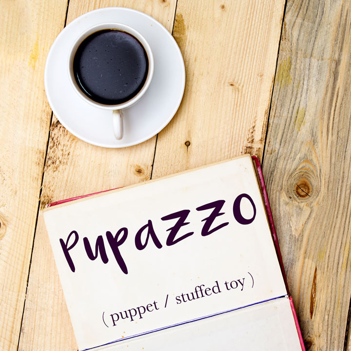 Italian Word of the Day: Pupazzo (puppet / stuffed toy)