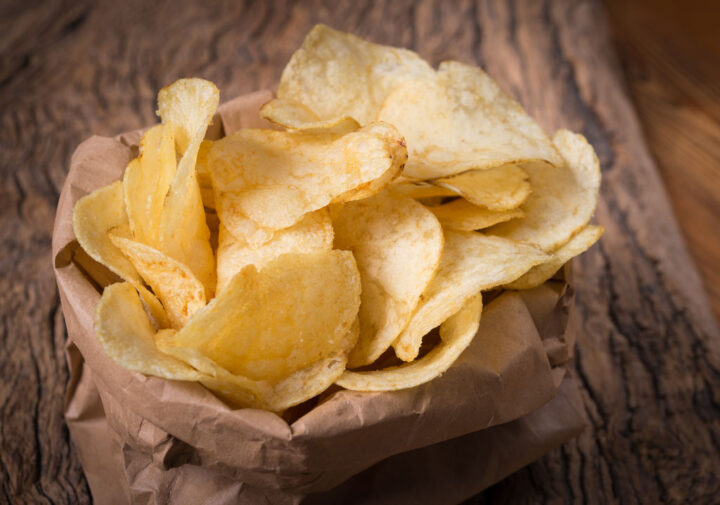 chips in a brown bag