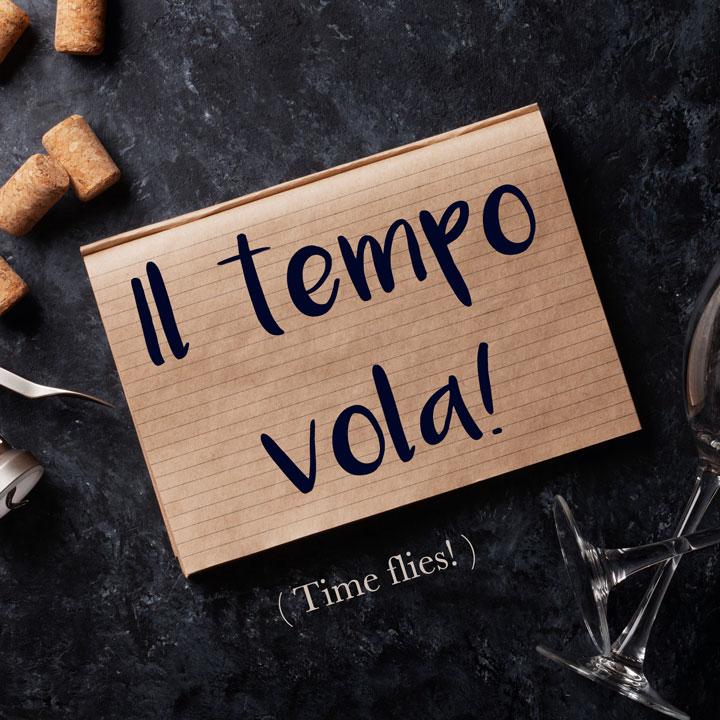 Italian Phrase Il Tempo Vola Time Flies Daily Italian Words