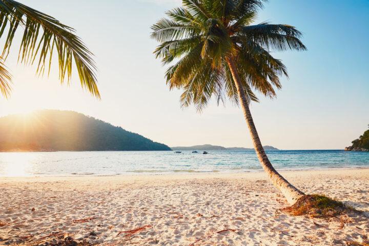 Idyllic beach on the Perhentian islands in Malaysia