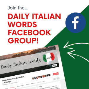 join the daily italian words group on facebook