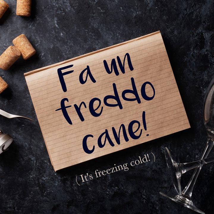 Italian Phase: Fa un freddo cane! (It's freezing cold!)