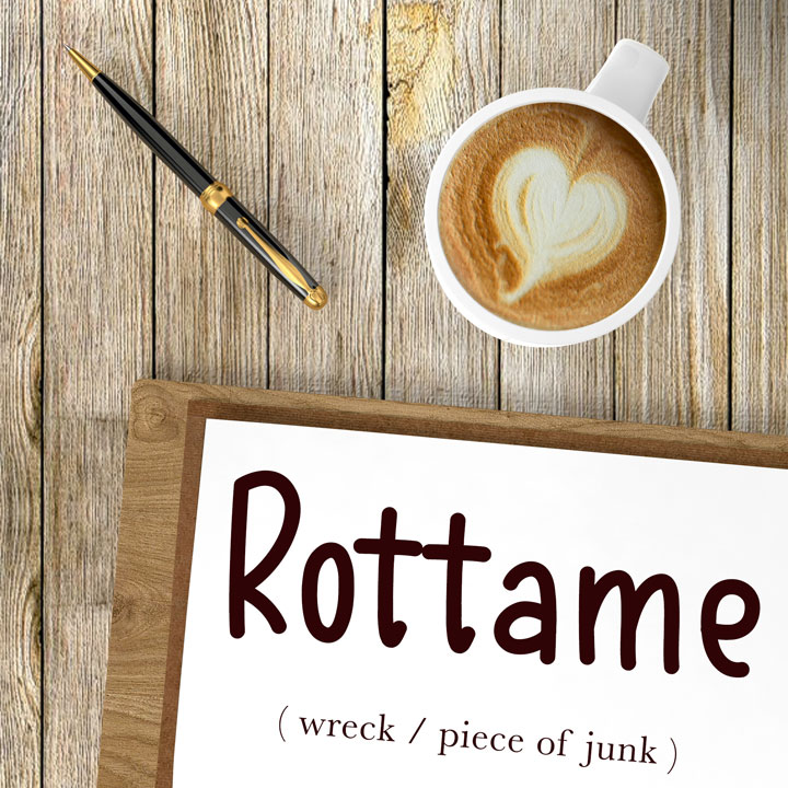 Italian Word of the Day: Rottame (wreck / piece of junk)