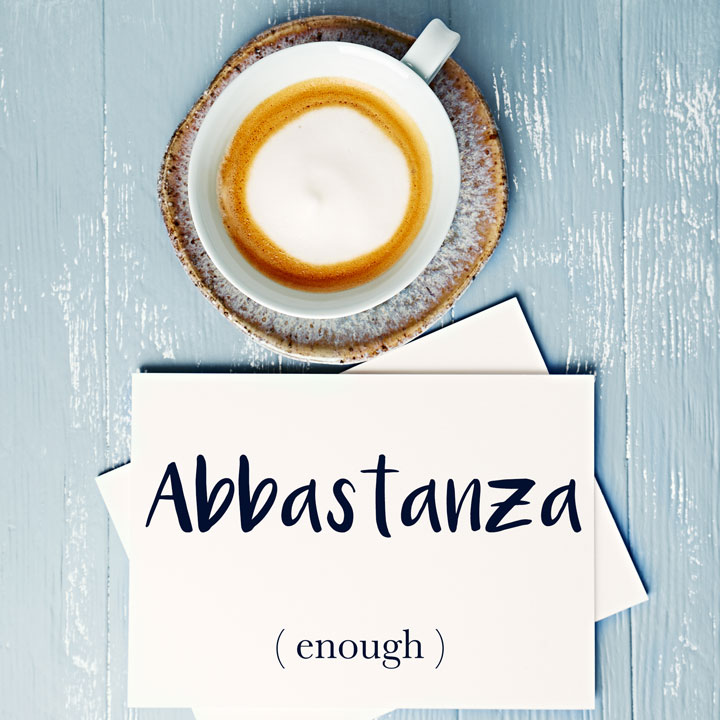 Italian Word of the Day: Abbastanza (enough)