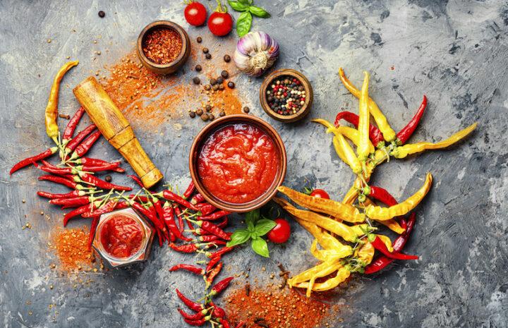 Homemade hot chilli sauce