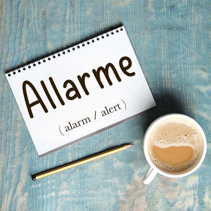 Italian Word of the Day: Allarme (alarm / alert)