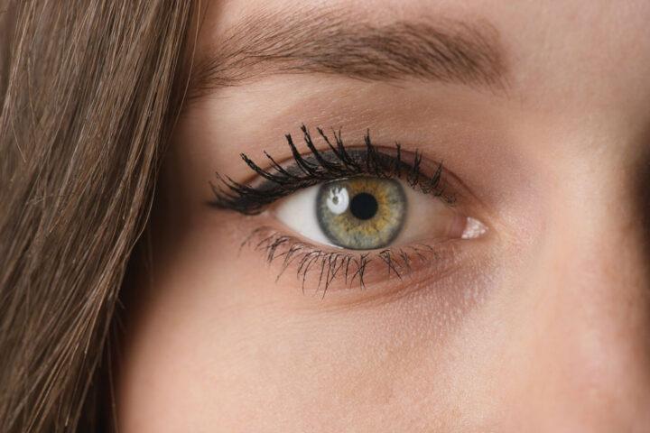 Closeup portrait of a female eye
