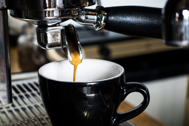 Fresh coffee being brewed