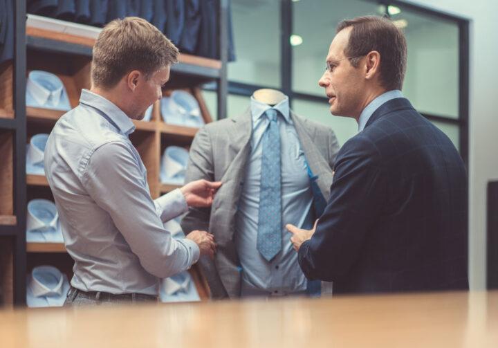 Mature businessmen in atelier