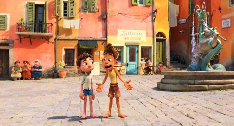Scene from Pixar Luca movie