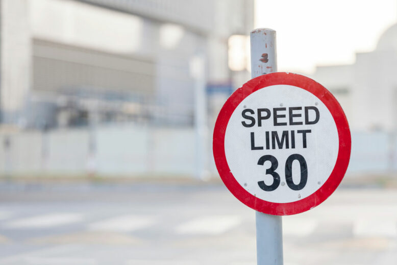 Speed limit 30 road sign