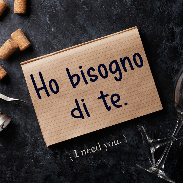 cover image with the phrase and its translation written on a notepad