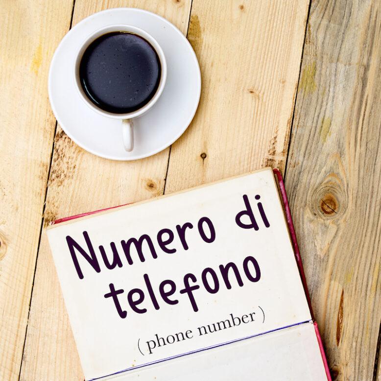 numero di telefono in italian